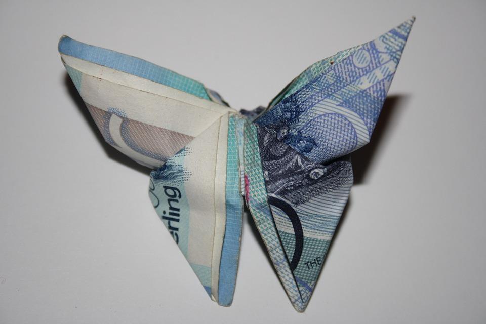 billetes origami regalo en bodas